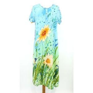 Vintage Dee Dees Floral MuuMuu Shift Dress